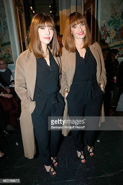 Brigitte duo Sylvie Hoarau and Aurelie Saada attend Alexis Mabille show as part of Paris Fashion Week Haute Couture Spring/Summer 2015 on January 26...