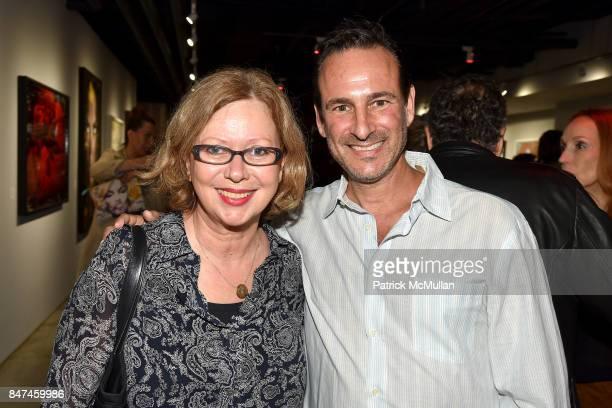 Brigitte Engler and David Schlachet attend IV New York Gallery Grand Opening Exhibition on September 14 2017 in New York City