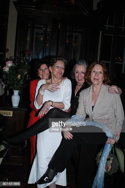 """Brigitte Flatow, Helga Schlack, Roswitha Völz, Ursula Heyer , Party zum 80. Geburtstag von P e e r S c h m i d t, """"Restaurant Moorlake"""", Berlin,..."""