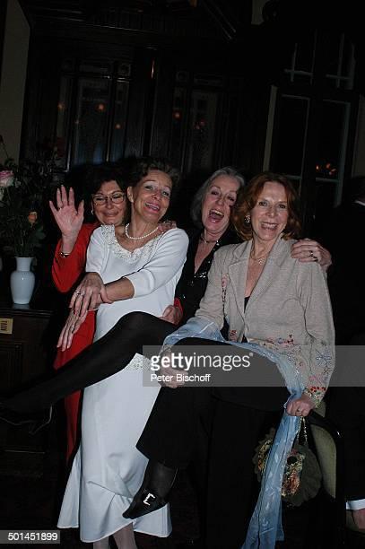 Brigitte Flatow Helga Schlack Roswitha Völz Ursula Heyer Party zum 80 Geburtstag von P e e r S c h m i d t Restaurant Moorlake Berlin Wannsee...