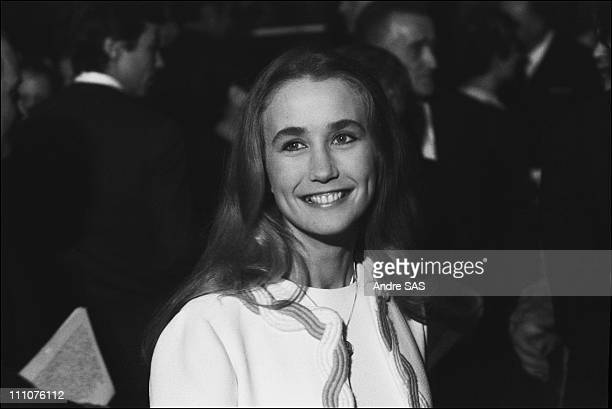 Brigitte Fossey at premiere of 'Le Grand Meaulnes' directed by JeanGabriel Albicocco in Paris France in 1967