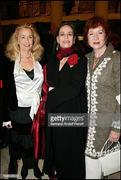 Brigitte Fossey Claudine Auger and Eva Darlan at the 12th Gala Performance Musique Contre L' Oubli In Aid Of Amnesty International At Theatre Champs...