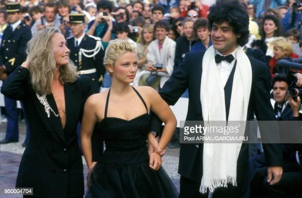 Brigitte Fossey et fille l'actrice Marie Adam au Festival de Cannes en mai 1987 France