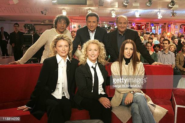 Brigitte Fossey On Vivement Dimanche Tv Show On April 13Th In Paris France Laurent Voulzy Michel Drucker Michel Jonasz Marie Adam Brigitte Fossey...