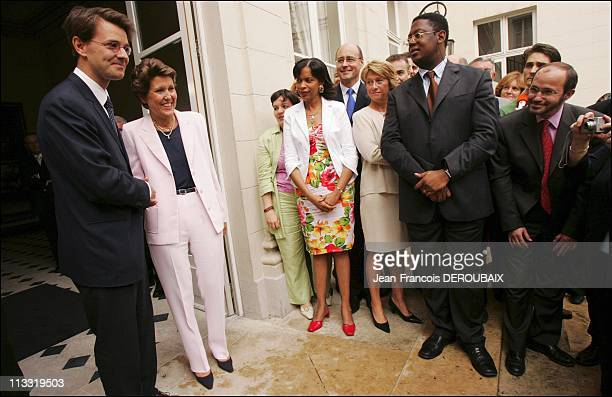 Brigitte Girardin Hands Office To Francois Baroin At The Ministry Of Overseas France - On June 2Nd, 2005 - In Paris, France - Here, Brigitte Girardin...