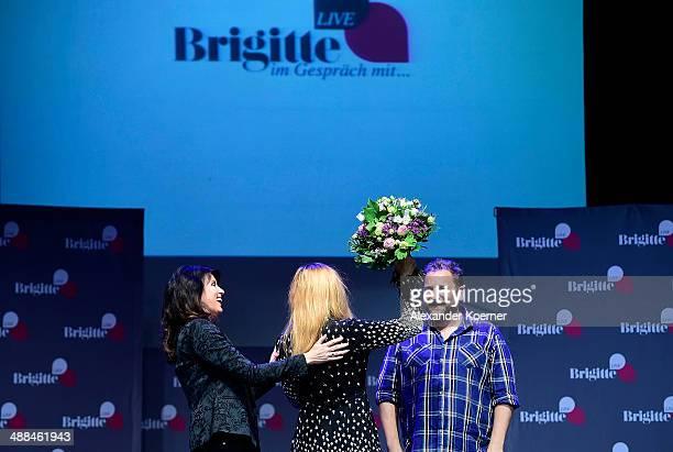 Brigitte Huber Judith Holofermes and Stephan Bartels are pictured leaving the 'Brigitte Live Die Stunden der Frauen' talk at Hamburger Kammerspiele...