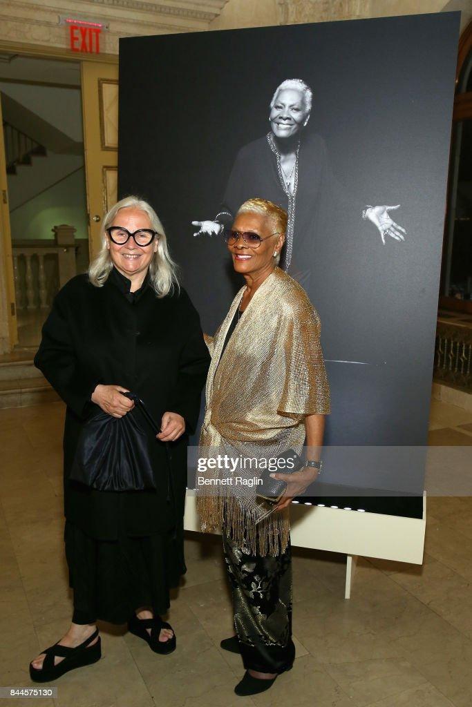 Brigitte Lacombe and Dionne Warwick attends Harper's BAZAAR