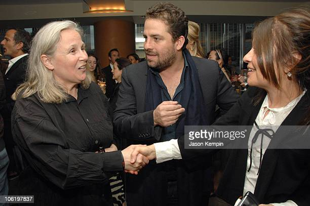 Brigitte Lacombe Brett Ratner and Jane Wenner during HBO Documentary Films Screening of Helmut By June April 26 2007 at HBO Theater in New York City...