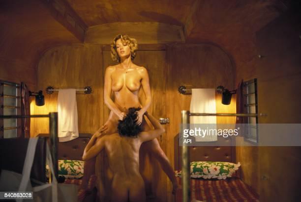 Brigitte Lahaie actrice francaise de films erotiques en juin 1985 a Paris France