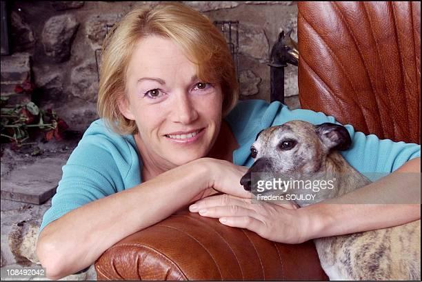 Brigitte Lahaie at home in France in August 2001