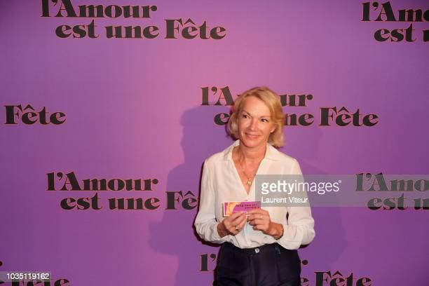 Brigitte Lahaie attends l'Amour est un Jeu Premiere at Cinema Max Linder on September 17 2018 in Paris France