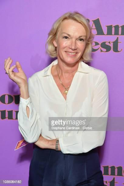 Brigitte Lahaie attends L'amour Est Une Fete Paris Premiere at Cinema Max Linder on September 17 2018 in Paris France