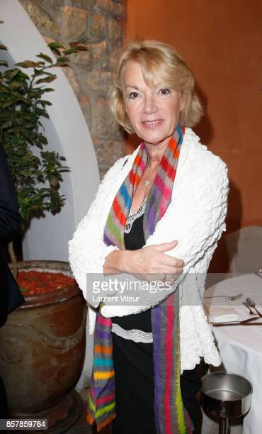 Brigitte Lahaie attends Sud Radio Press Conference at Brasserie Le Sud on October 5 2017 in Paris France