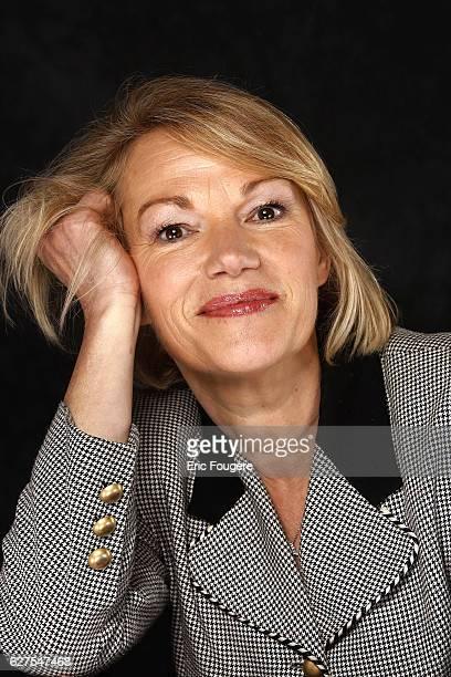 Brigitte Lahaie on the set of TV show Au Field de la Nuit