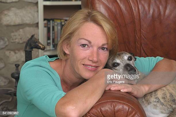 Brigitte Lahaie with her dogs