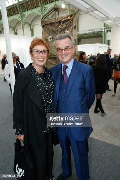 Brigitte Lefevre and GeorgeFrancois Hirsch attend the FIAC 2017 International Contemporary Art Fair Press Preview at Le Grand Palais on October 18...