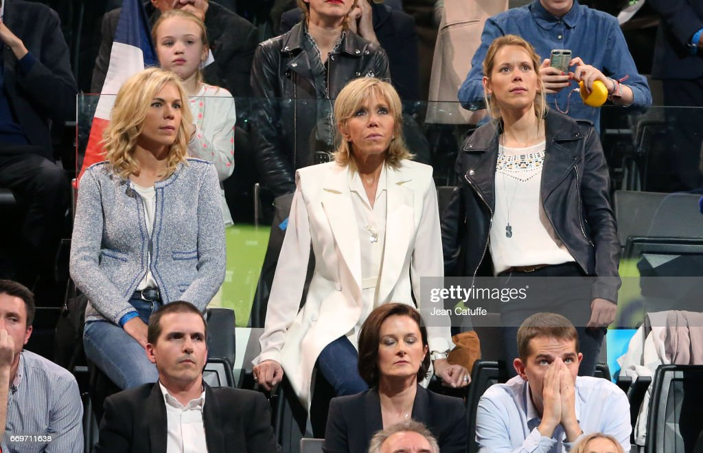 Brigitte Macron Aka Brigitte Trogneux And Her Daughters Laurence News Photo Getty Images