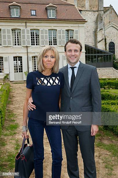 Brigitte Macron and Emanuel Macron attend the 'College Royal et Militaire de ThironGardais' Exhibition Rooms Inauguration on June 10 2016 in Thiron...
