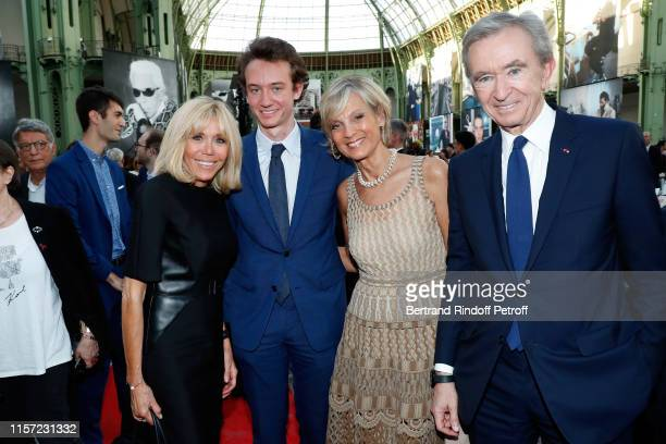 Brigitte Macron Frederic Arnault Helene Arnault and Bernard Arnault attend Karl for Ever Tribute to Karl Lagerfeld at Grand Palais on June 20 2019 in...