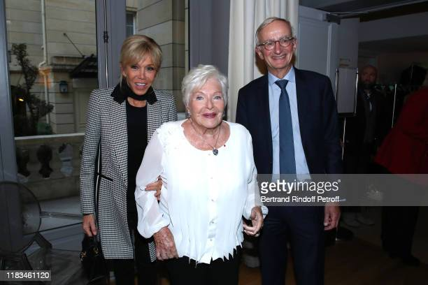 Brigitte Macron Line Renaud and Chairman of the Supervisory Board of the Foundation for Medical Research Denis Duverne attend the first Line Renaud...