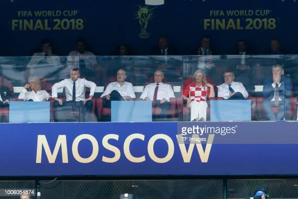 Brigitte Macron President Emmanuel Macron FIFA President Gianni Infantino President Wladimir Wladimirowitsch Putin President Kolinda GrabarKitarovic...