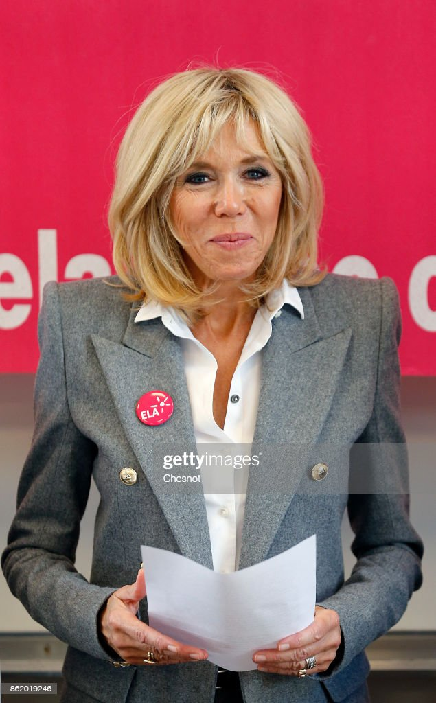 French First Lady Brigitte Macron Launches The European Leukodystrophy Association  Campaign In Paris