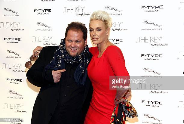 Brigitte Nielsen and director Mayk Azzato attend the Jaguar F-Type commercial short movie 'The Key' premiere at e-Werk on April 13, 2013 in Berlin,...