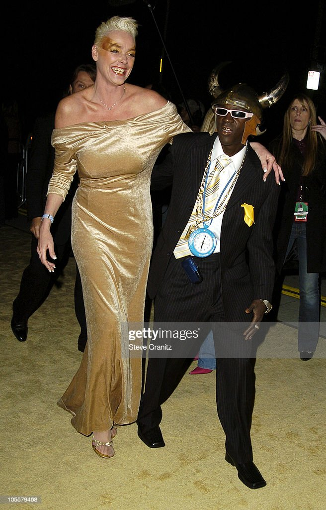 Brigitte Nielsen and Flavor Flav during VH1 Big in '04 - Arrivals at Shrine Auditorium in Los Angeles, California, United States.