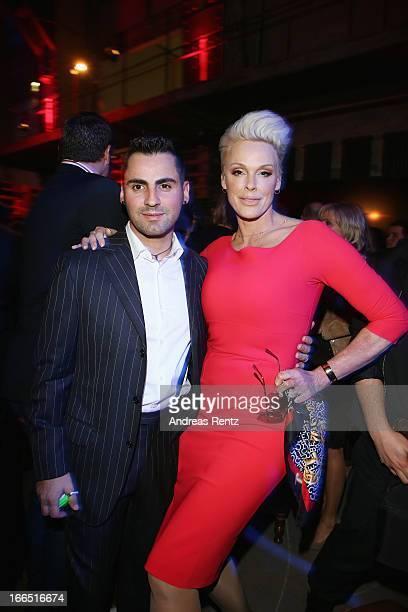 Brigitte Nielsen and her husband Mattia Dessi attend the Jaguar F-Type short film 'The Key' Premiere at e-Werk on April 13, 2013 in Berlin, Germany.