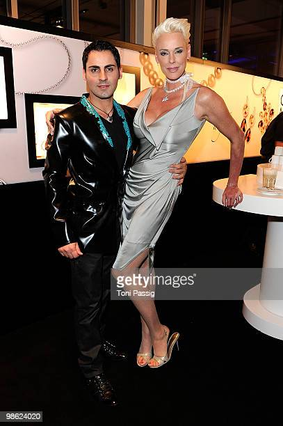 Brigitte Nielsen and husband Mattia Dessi attend the 'New Faces Award 2010' at Cafe Moskau on April 22 2010 in Berlin Germany