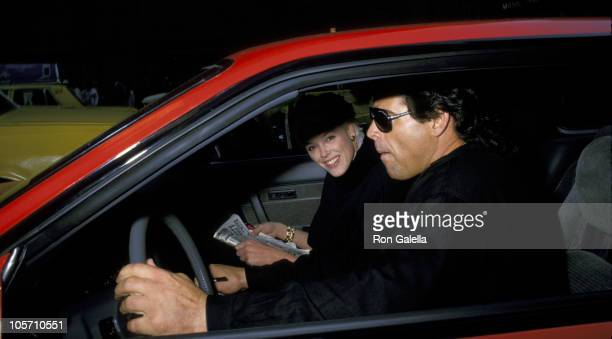 Brigitte Nielsen and Mark Gastineau during Brigitte Nielsen and Mark Gastineau Sighting in New York City February 2 1988 in New York City New York...