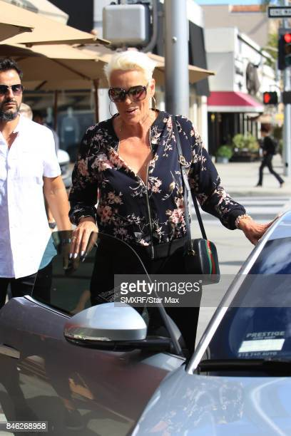 Brigitte Nielsen and Mattia Dessi are seen on September 12 2017 in Los Angeles California