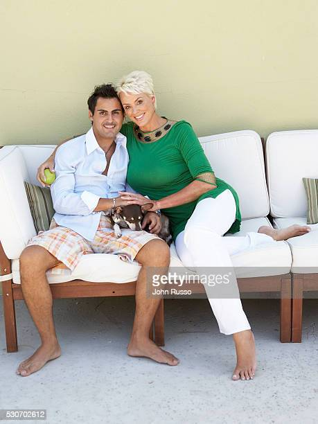 Brigitte Nielsen and Mattia Dessi at Home