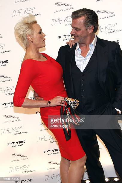 Brigitte Nielsen and Ray Stevenson attend the Jaguar F-Type commercial short movie 'The Key' premiere at e-Werk on April 13, 2013 in Berlin, Germany.