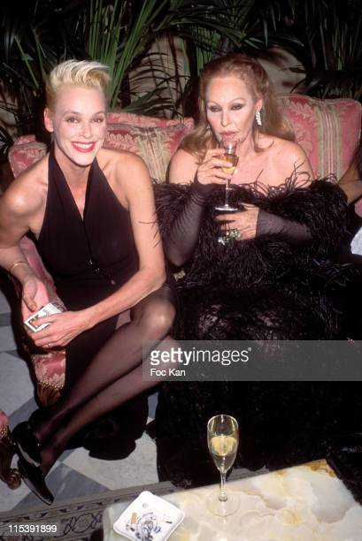 Brigitte Nielsen and Ursula Andress during Gala Dinner for the Bests Awards at Royal Monceau Hotel in Paris France