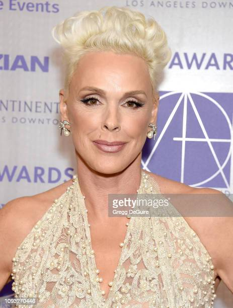 Brigitte Nielsen arrives at the Art Directors Guild 23rd Annual Excellence In Production Design Awards at InterContinental Los Angeles Downtown on...
