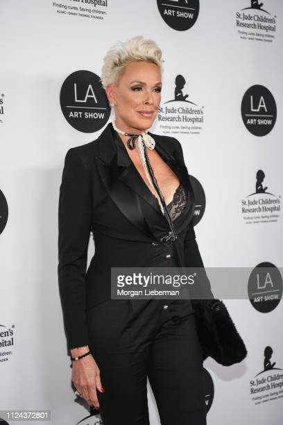 Brigitte Nielsen arrives at the LA Art Show 2019 Opening Night Gala at the Los Angeles Convention Center on January 23 2019 in Los Angeles California
