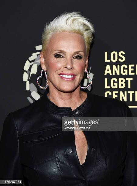 Brigitte Nielsen arrives at the Los Angeles LGBT Center's Gold Anniversary Vanguard Celebration Hearts Of Gold at The Greek Theatre on September 21...