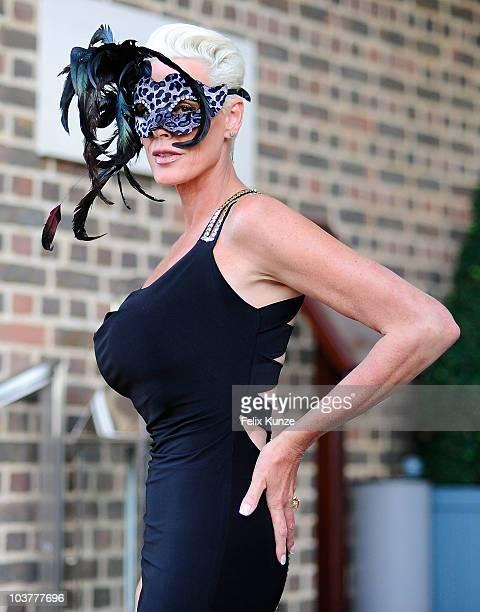 Brigitte Nielsen arrives at The Square Mile Masked Ball at The Hurlingham Club on September 1, 2010 in London, England.