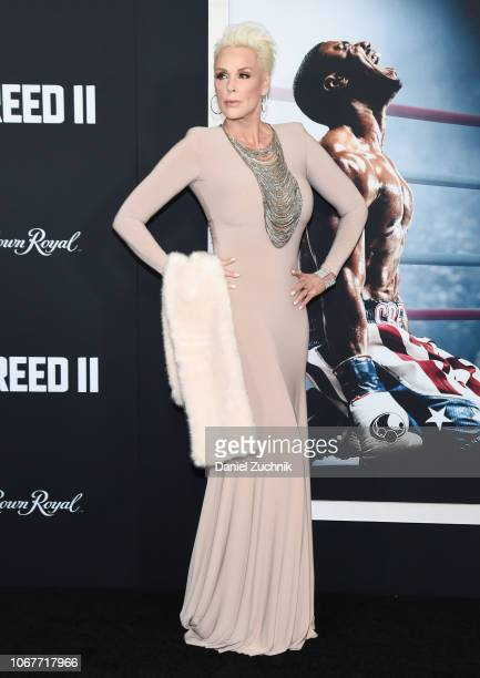 Brigitte Nielsen attends the 'Creed II' New York Premiere at AMC Loews Lincoln Square on November 14, 2018 in New York City.