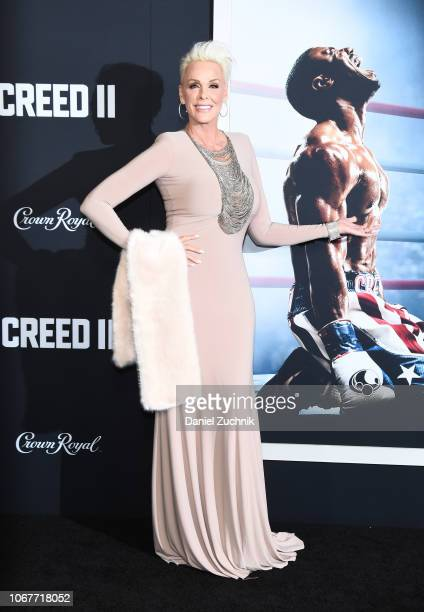 Brigitte Nielsen attends the 'Creed II' New York Premiere at AMC Loews Lincoln Square on November 14 2018 in New York City