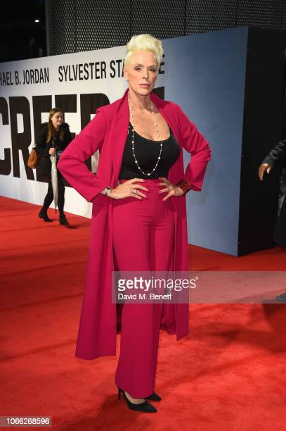 Brigitte Nielsen attends the European Premiere of Creed II at BFI IMAX on November 28 2018 in London England