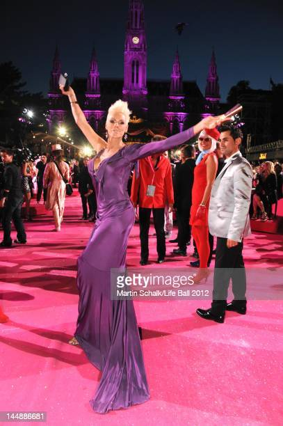 Brigitte Nielsen attends the Life Ball 2012 AIDS charity fundraiser at City Hall on May 19 2012 in Vienna Austria