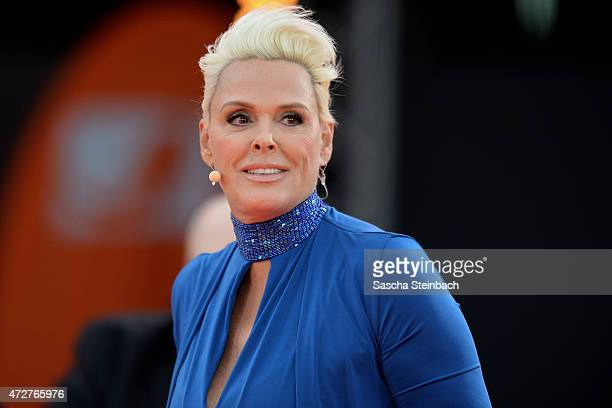 Brigitte Nielsen attends the taping of the tv show 'Abenteuer Grillen Der kabel eins BBQKing 2015' on May 9 2015 in Bottrop Germany The show will be...