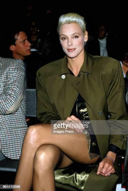 Brigitte Nielsen circa 1980s at a fashion show in Milan.