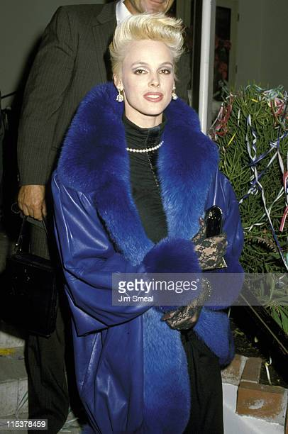 Brigitte Nielsen during Billy Wilder's 1987 New Year's Eve Party at Spago's Restaurant in Hollywood California United States