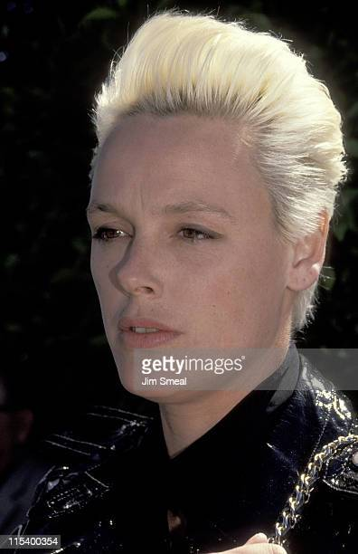 Brigitte Nielsen during Brigitte Nielsen Sighting at Le Dome Restaurant April 11 1991 at Le Dome Restaurant in Hollywood California United States