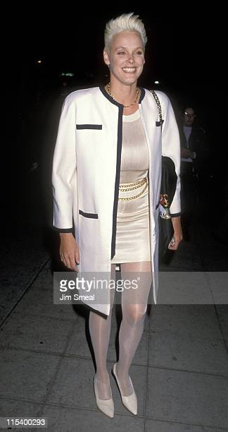 Brigitte Nielsen during Brigitte Nielsen Sighting at Le Dome Restaurant in Hollywood January 31 1991 at Le Dome Restaurant in Hollywood California...