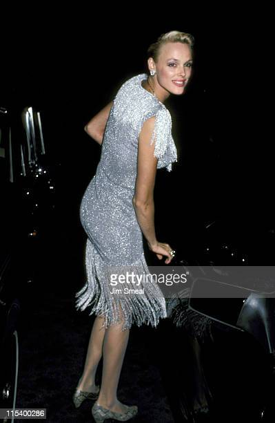Brigitte Nielsen during Eddie Murphy Sylvester Stallone and Brigitte Nielsen Sighting at Spago's Restaurant in Hollywood September 11 1986 at Spago's...