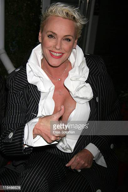 Brigitte Nielsen during Life at Its Best Celebrates Two Years of Success December 7 2006 at Fred Segal's Mauro Cafe in Los Angeles California United...